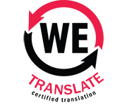 We Translate for certified Translation